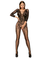 Anais - Mirabella Bodystocking Black