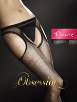 Fiore - Fishnet Suspender Tights Passion White